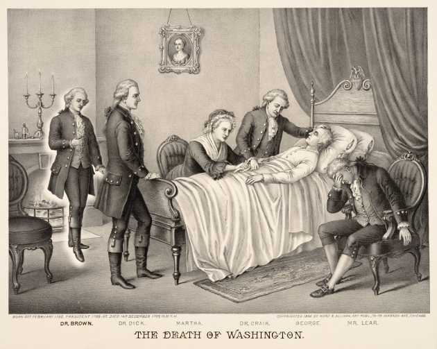 Death of Washington w Dr Gustavus Brown